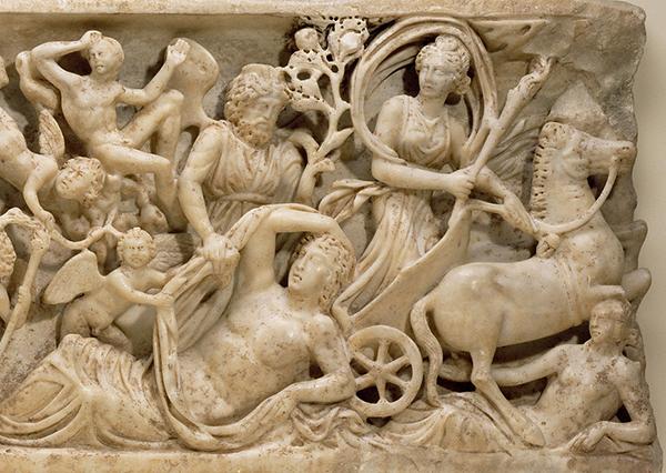 Sarcophagus Panel..., about A.D., 210, Roman. J. Paul Getty Museum.