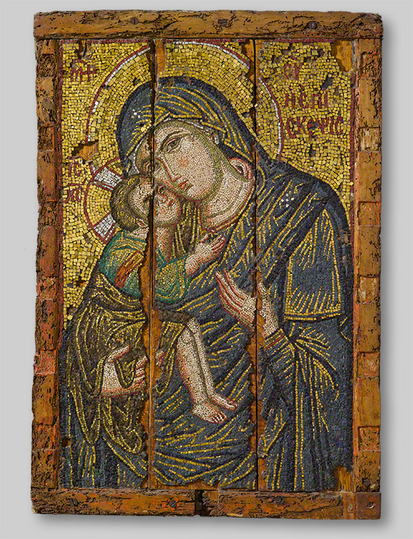 Mosaic Icon with the Virgin and Child / Byzantine