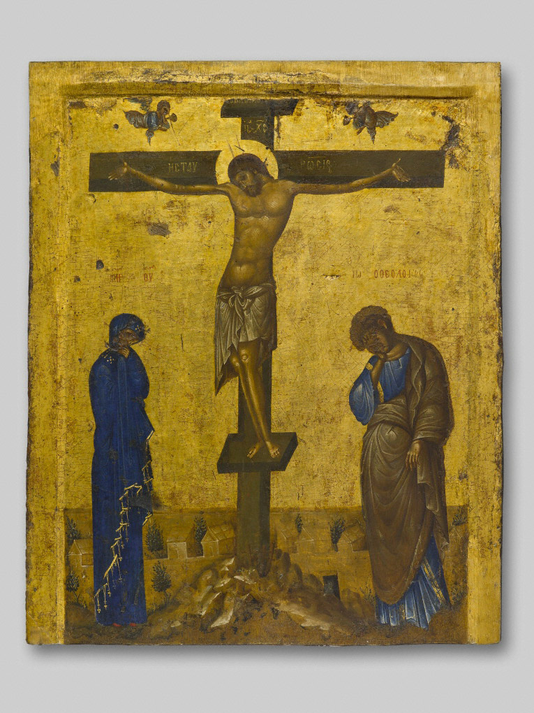 Icon with the Crucifixion / Byzantine