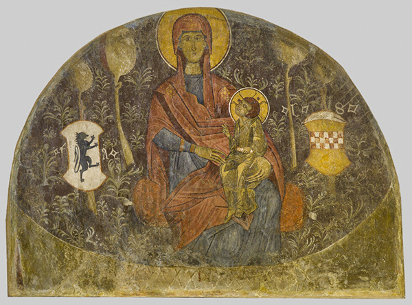 Wall Fragment with the Virgin Mary and Coats of Arms / Byzantine