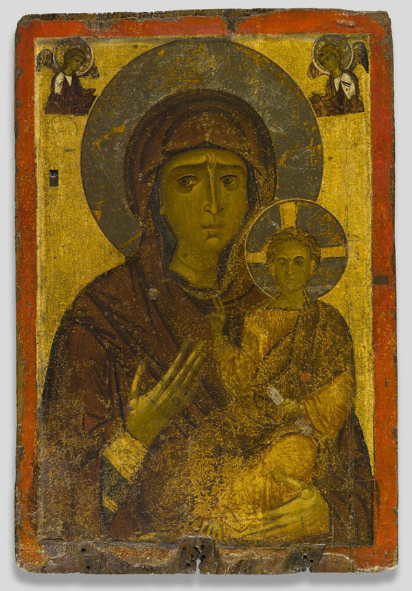 Icon with the Virgin and Child / Byzantine