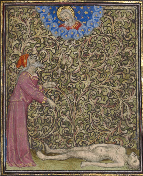 Job Pointing to a Corpse on the Ground / Follower of the Egerton Master