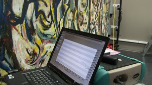 Laptop with Jackson Pollock's Mural