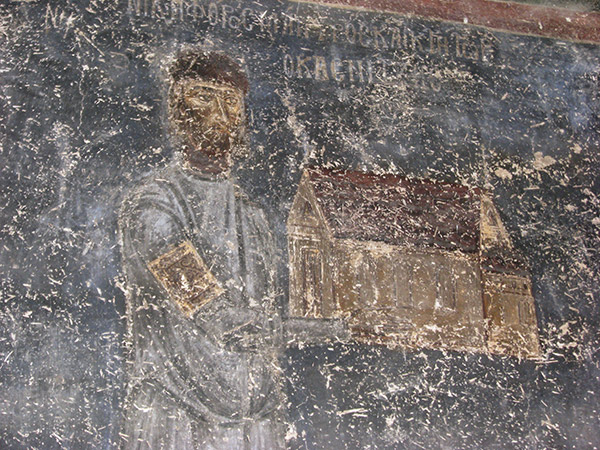 Fresco of the church of Hagios Nikolaos tou Kasnitzi
