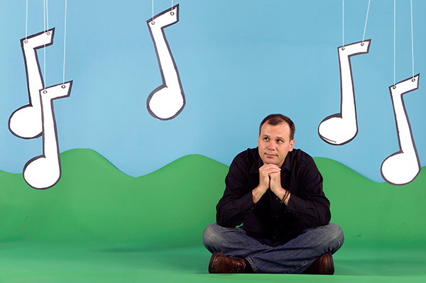 Alastair Moock, a featured performer at August's Garden Concerts for Kids