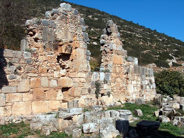 Ruins of the monastic church of Zaraka (Stymphalia), Greece
