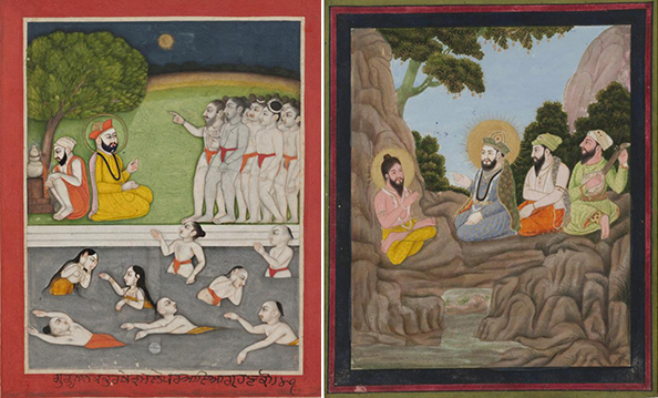 Miniatures from a Sikh manuscript / 1800s