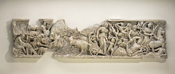 Sarcophagus Panel with the Myth of Endymion and Selene / Roman