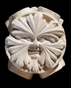 Keystone in the Shape of a Foliate Face / Greek