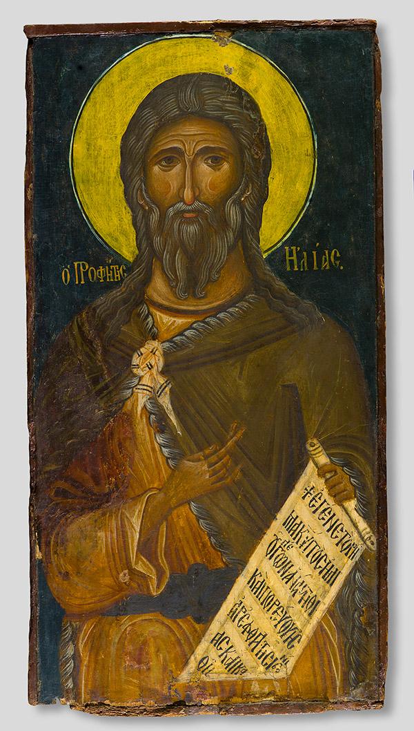 Icon with the Prophet Elijah / Byzantine