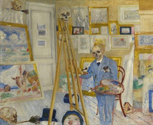 The Skeleton Painter / James Ensor