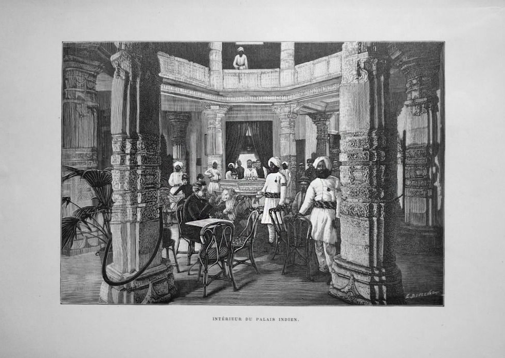 Interior of the Indian Palace on the Champ-de-Mars, Universal Exposition, Paris, 1889