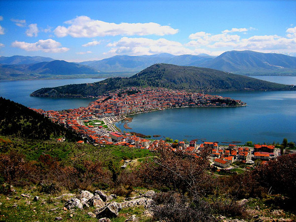 The city of Kastoria, northern Greece
