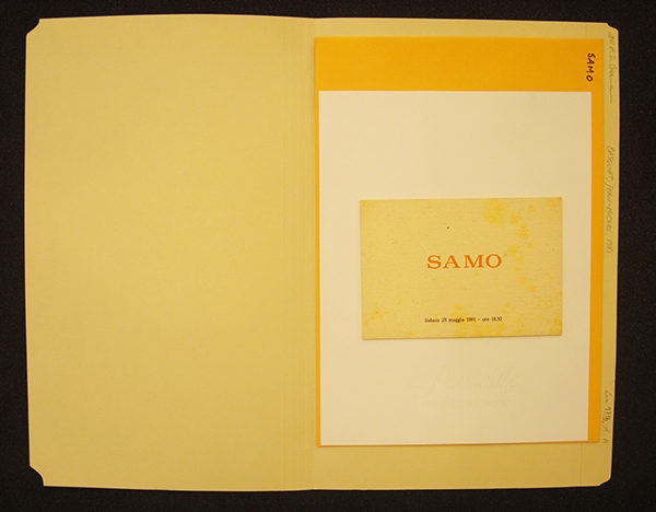 S is for SAMO