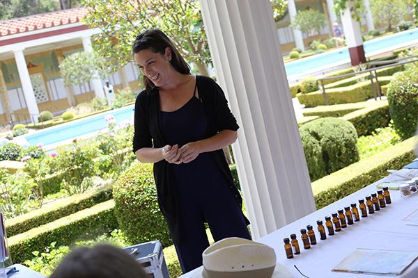 Saskia Wilson-Brown at the Getty Villa