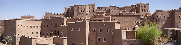 Kasbah Taourirt, one of the most important earthen sites in North Africa