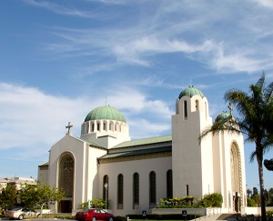 Saint Sophia Cathedral, anchor of Los Angeles's Greek Orthodox community and the Byzantine-Latino Quarter