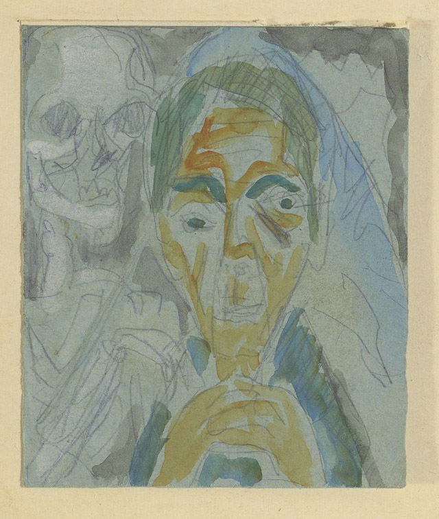 Self-Portrait with Death / Ernst Ludwig Kirchner