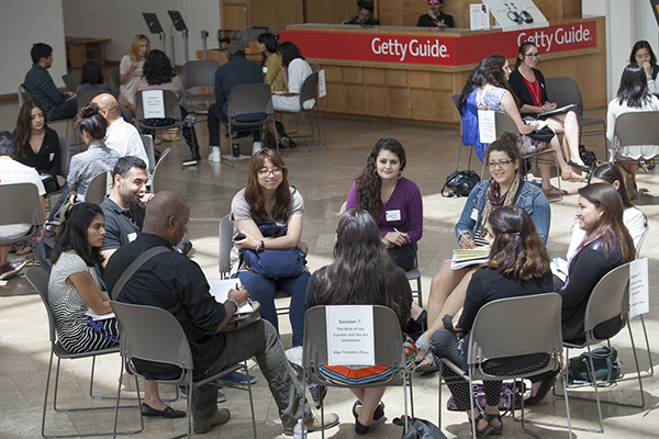 Interns listen attentively to arts professionals during the career session portion of the 2014 Arts Summit.