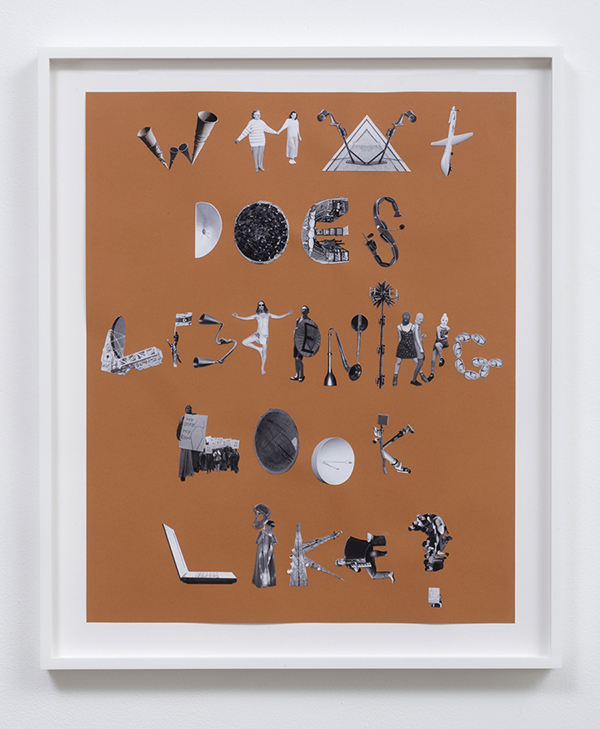 "Elana Mann, A list of the sounds that have reverberated through my body, 2013, cut photographs on paper, 18"" X 24"""
