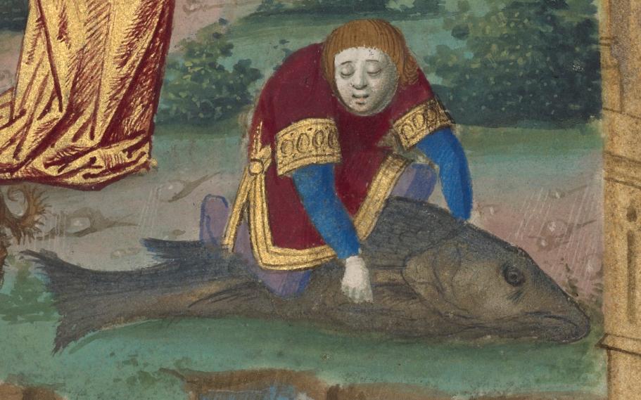 Tobias and the Angel, 1478, Master of Guillaume Lambert. J. Paul Getty Museum.