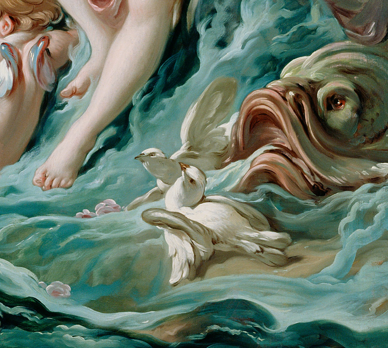 Venus on the Waves (detail), 1769, Francois Boucher. J. Paul Getty Museum.