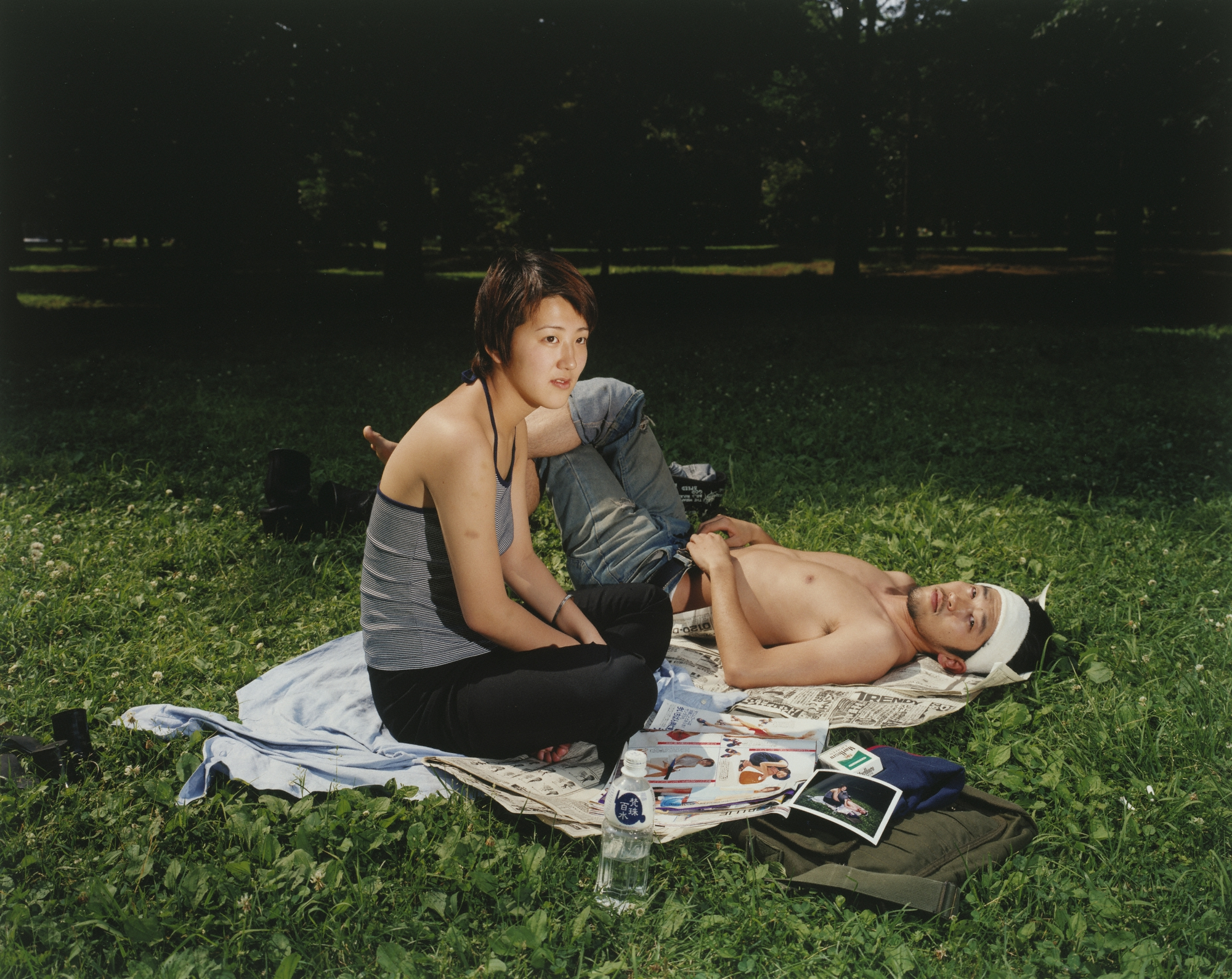 Picnic #2, 1998, Masato Seto. 16 15/16 x 21 7/16 inches. J. Paul Getty Museum. Purchased with funds provided by the Photographs Council. © Masato Seto