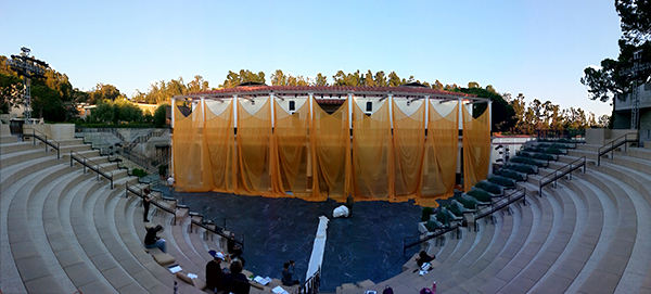 SITI Company's production-in-progress for Aeschylus's Persians at the Getty Villa. Photo: Sara Radamacher