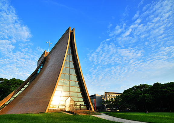 Henry Luce Memorial Chapel in the morning light. Photo: Tunghai University