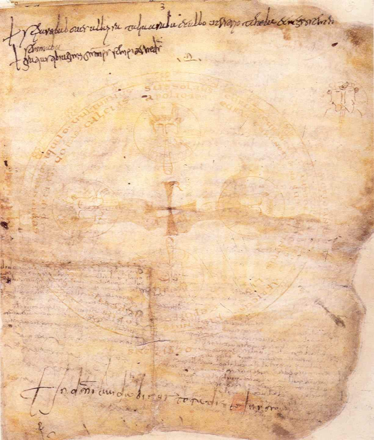 Indovinello Veronese, about 900 AD, ink on parchment. Biblioteca Capitolare, Verona [http://en.wikipedia.org/wiki/File:Indovinello_veronese.jpg]