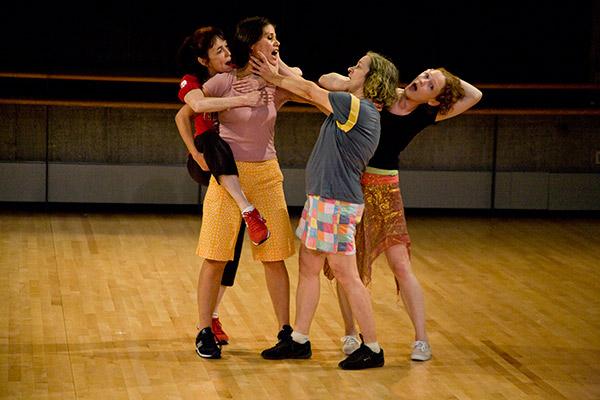 The Raindears perform Yvonne Rainer's Spiralling Down at Baryshnikov Art Center, 2011