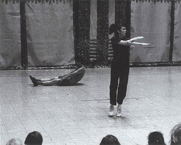 Pat Catterson performing Yvonne Rainer's Trio A at Judson Church, 1999