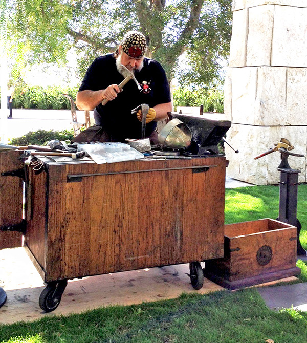 Blacksmith Tony Swatton at the Getty Center