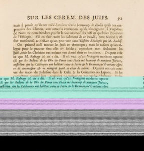 Digitally decayed scan of a book from the Getty Research Institute / Bernard Picart