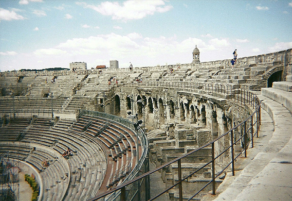 Roman amphitheater in Arles, France