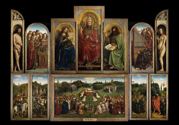The Adoration of the Mystic Lamb, known as the Ghent Altarpiece / Hubert and Jan van Eyck