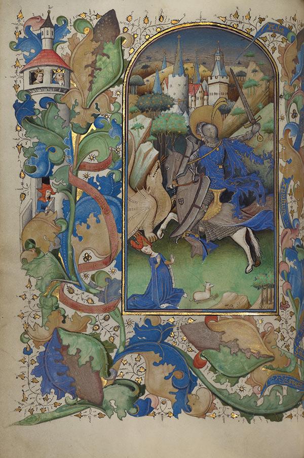 Saint George and the Dragon / Master of Guillebert de Mets