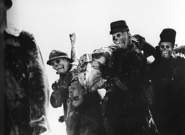 Still from J'Accuse featuring undead soldiers questioning their sacrifice