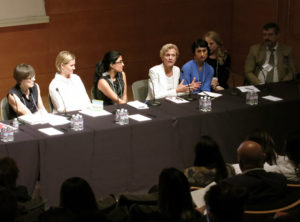 Discussion panel during the Pacific Standard Time workshop at the Getty Center, October 2014
