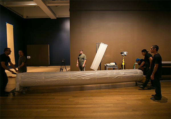 Installing Peter Paul Rubens's tapestries at the Getty Center