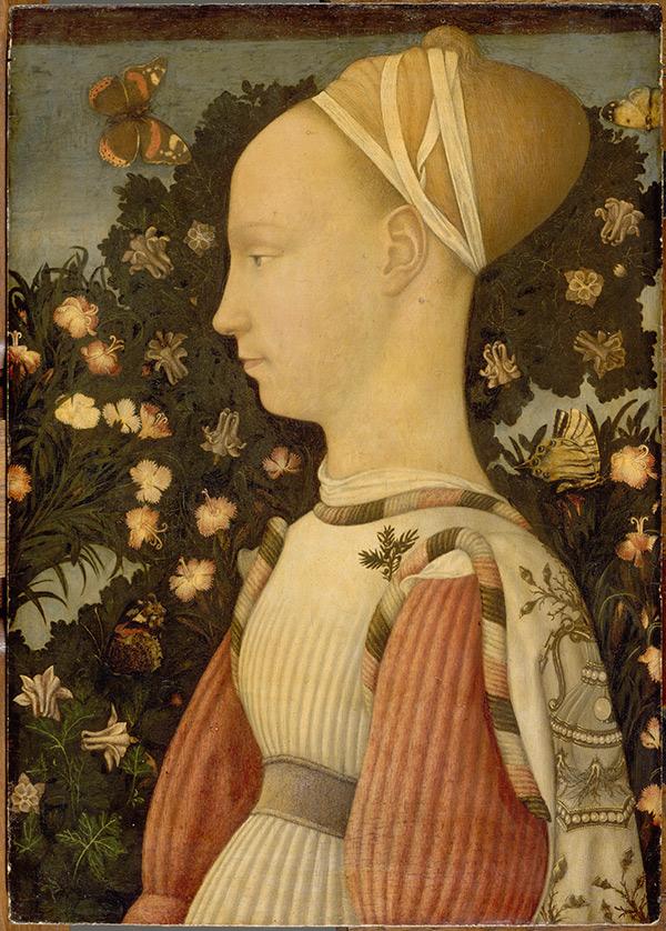 Portrait of Ginevra d'Este / Pisanello