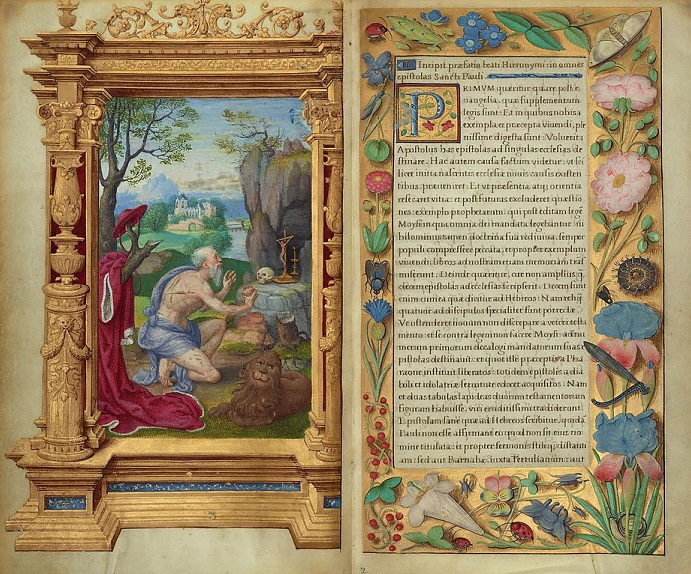 Saint Jerome in Epistles, Master of the Getty Epistles, about 1528 - 1530. The J. Paul Getty Museum, Los Angeles, Ms. Ludwig I 15, fol. 1v