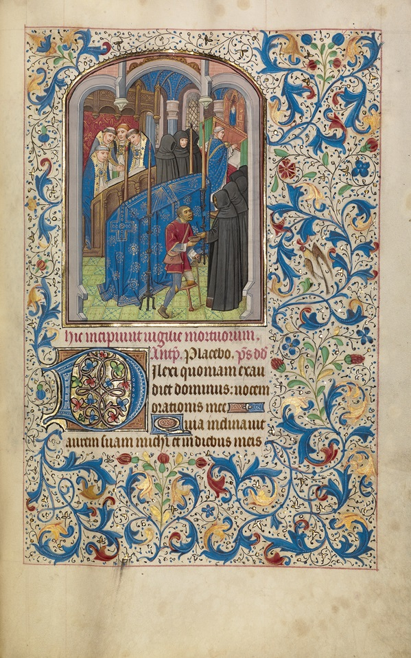 Mass of the Dead in Book of Hours, Willem Vrelant, early 1460s. The J. Paul Getty Museum, Ms. Ludwig IX 8, fol. 189