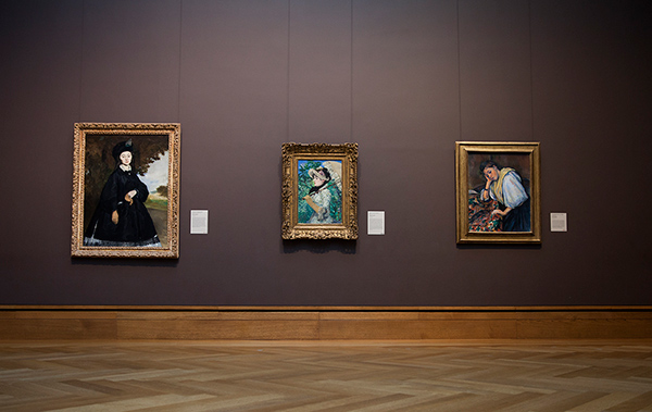 Manet portraits in the Getty Center's West Pavilion