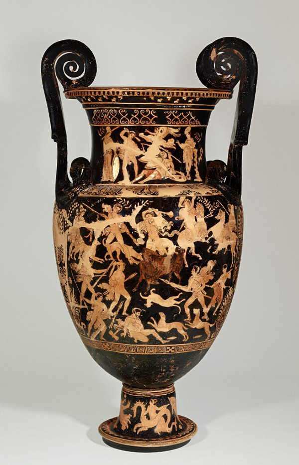Funerary Vessel with Herakles Slaying Geryon