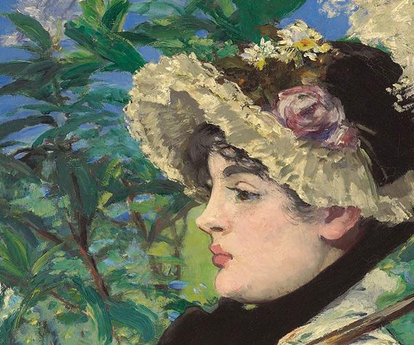 Spring: detail of Jeanne Demarsy's face / Manet