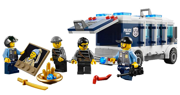 LEGO Museum breakin-set - detail of fake LEGO Vermeer