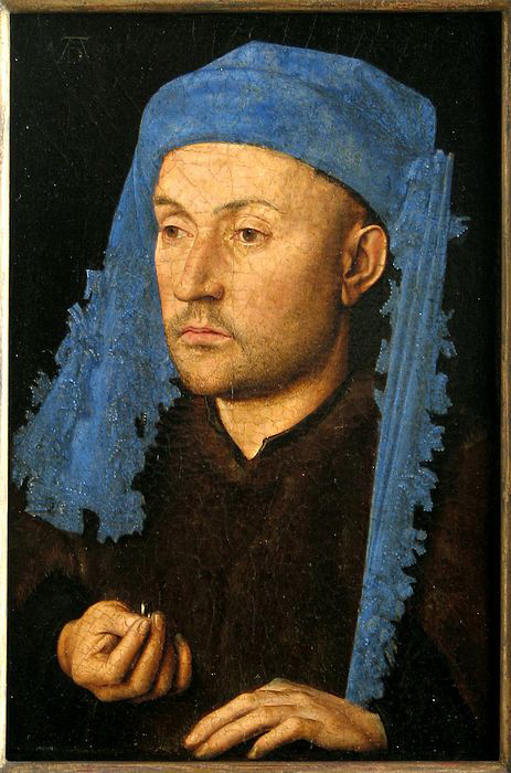 Portrait of a Man with a Blue Chaperon / Van Eyck