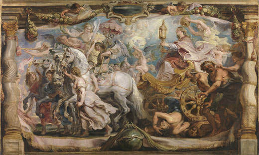 Post-conservation view of Peter Paul Rubens's Triumph of the Church