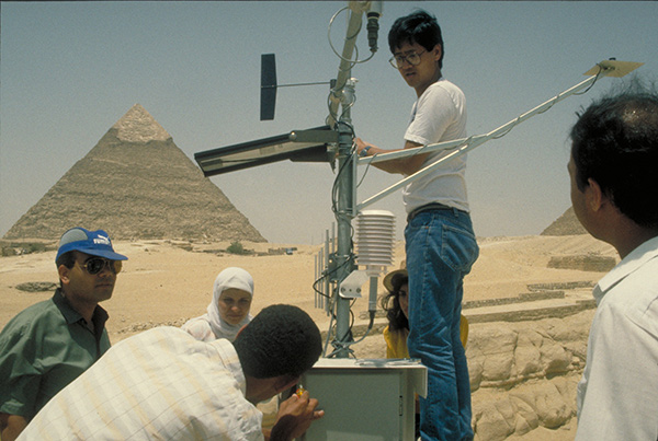 Our work at the Great Sphinx on the Giza Plateau in the 1990s included conducting an environmental monitoring study with a monitoring station designed and constructed by Institute staff.